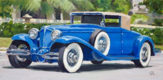 '29 Cord Phaeton painting by Raphael Schnepf