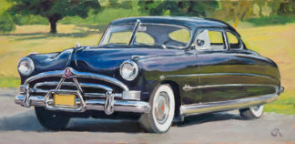 '51 Hudson Hornet painting by Raphael Schnepf