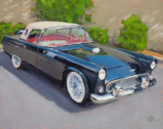 '56 T-Bird painting by Raphael Schnepf