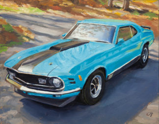 Ford Mustang painting by Raphael Schnepf
