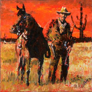 Cowboy & Horse by Jerry Blank