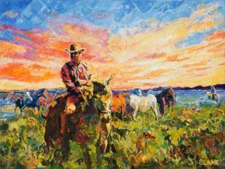 Marshall Dillon With Horses by Jerry Blank