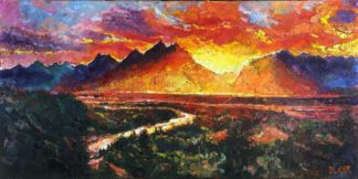 Teton Sunset by Jerry Blank