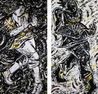 Enter The Wu diptych by David A. Soto