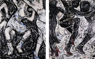 Le Dance Connection diptych by David A. Soto
